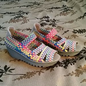 Bernie Mev Rainbow Slip-on Wedge